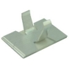 Self Adhesive Aluminium Open Armed Cable Clip- 6.3mm Bundle Dia