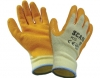 Knit Shell Latex Palm Gloves Orange Pack of 12